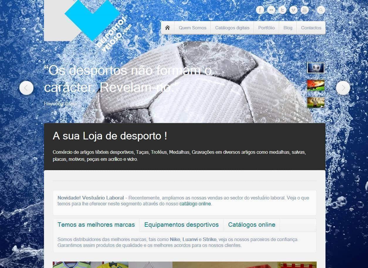 Desportos Veloso - Novo Site Siteiria