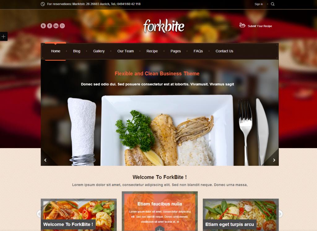 Criação de sites para restaurantes!
