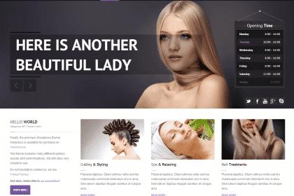 Criação de sites para cabeleireiros e esteticas