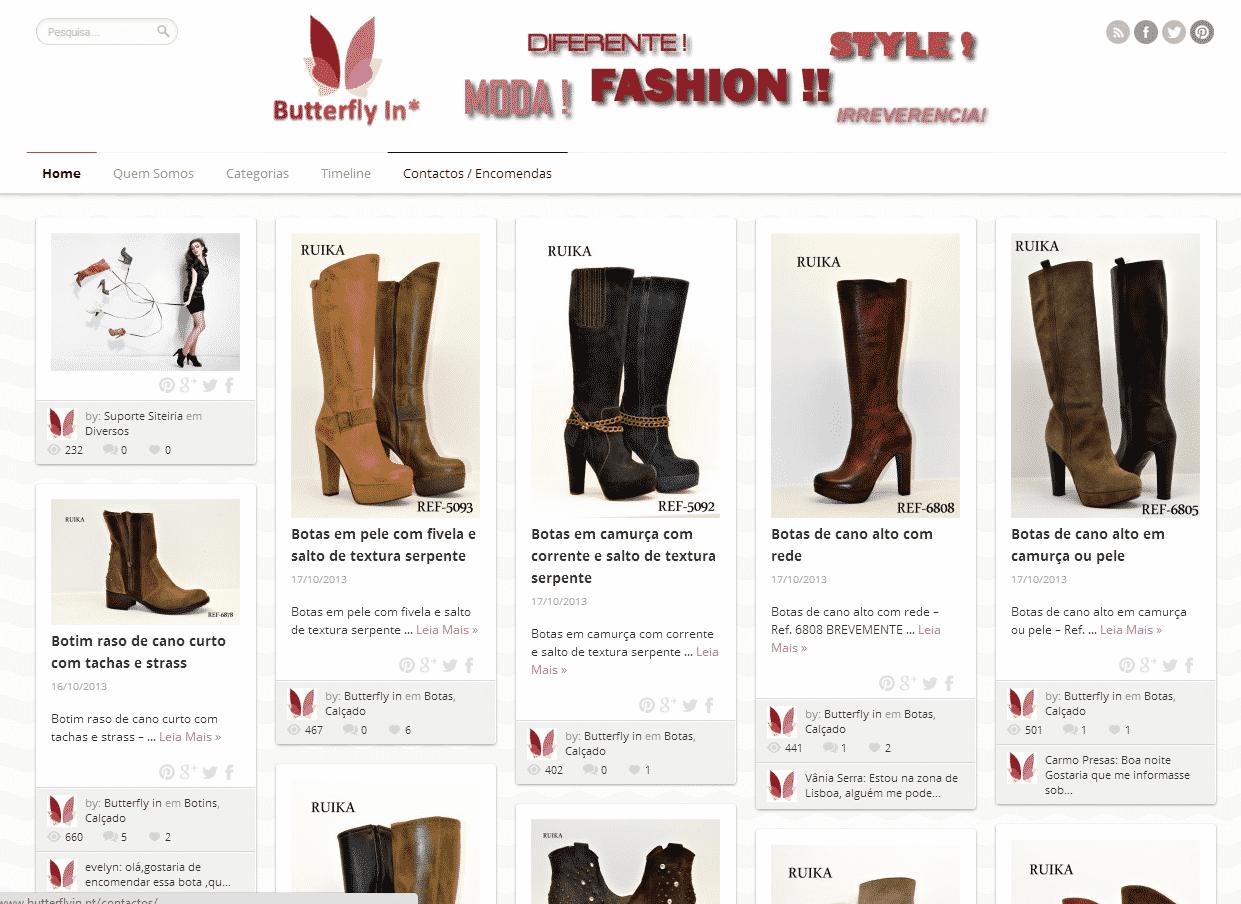 Criação de sites para, acessórios de moda, Sapatos, Pulseiras, colares