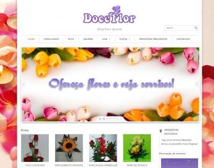 Criação de site para a Florista Doce Flor