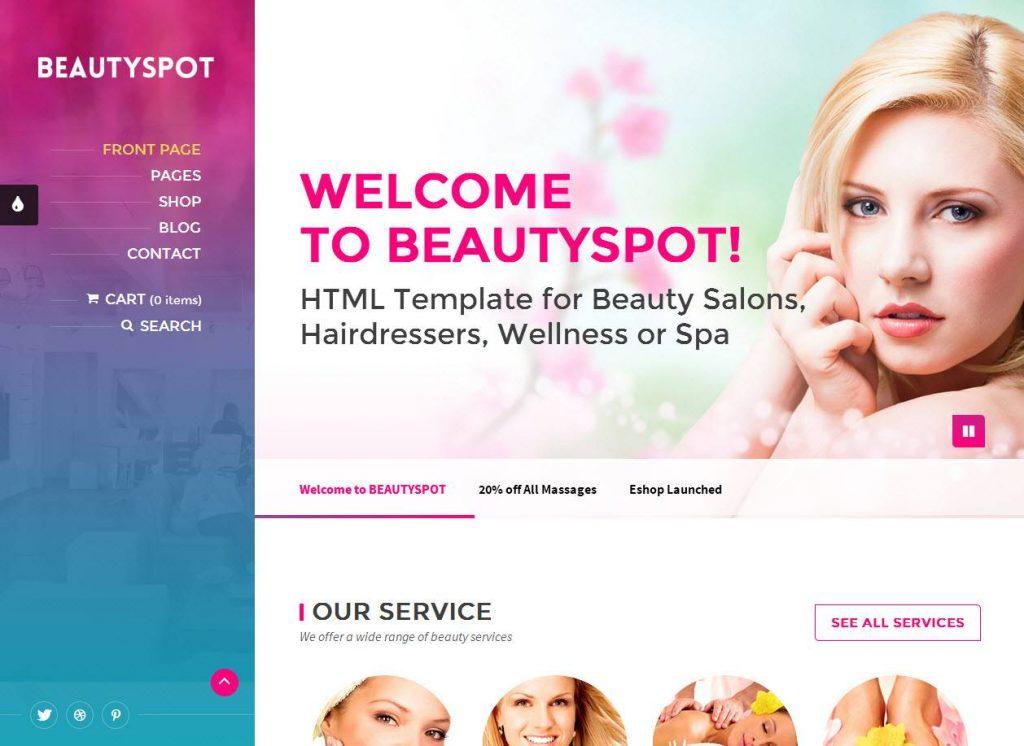 Construção de lojas online para artigos de beleza