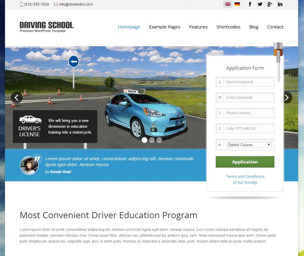 Desenvolvimento de site para Escola de condução
