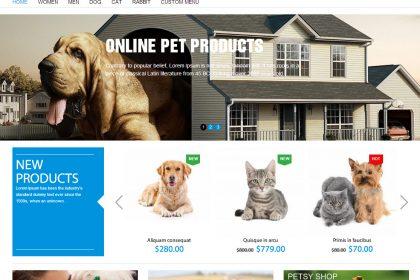 Construção e criação de sites para lojas de animais