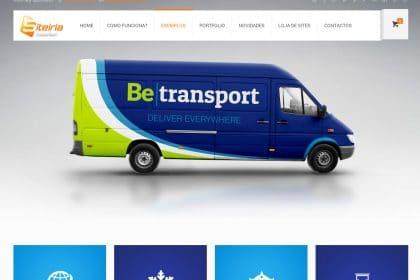 Criação de sites para transportadoras transportes logística