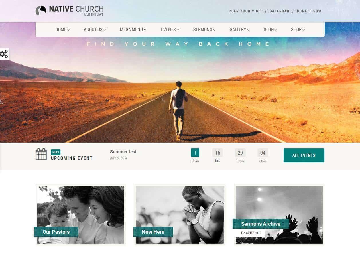 Desenvolvimento de sites para Igrejas religião oração