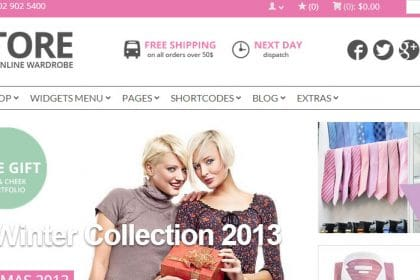 Criação de sites para lojas de roupa acessórios moda