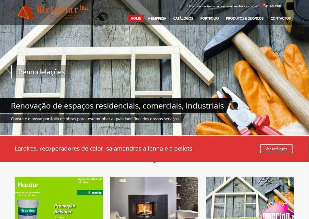 Criação de site Empresa Belsolar