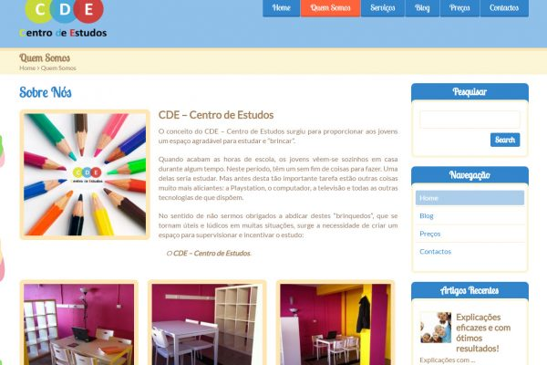 Criação e construção de site para CDE centro de estudos (2)