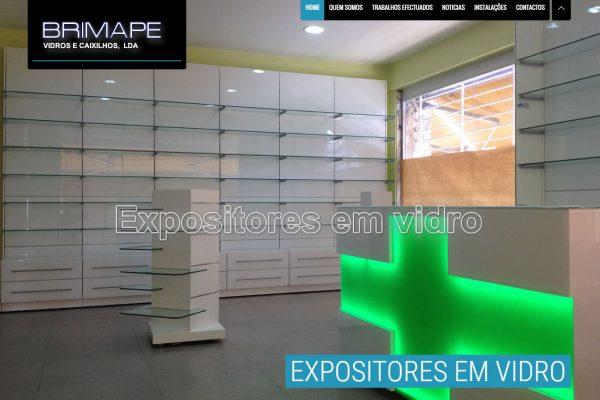 Desenvolvimento de Site Vidraria Brimape