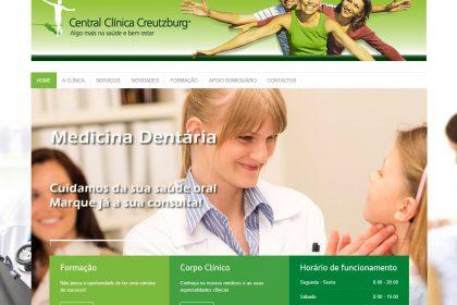 Desenvolvimento de site para a Central Clínica Creutzburg