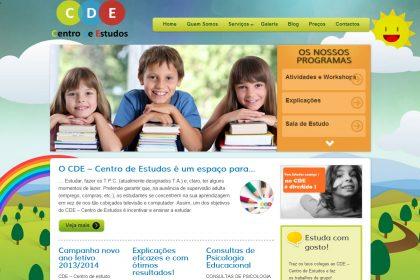 Criação e construção de site para CDE centro de estudos