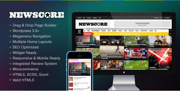 NewsCore – Template para wordpress, Revistas,Desporto e Notícias