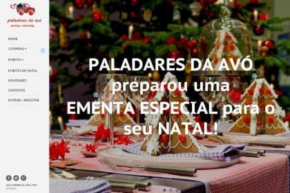 Criação de site para empresa de catering Paladares da Avó - Lisboa