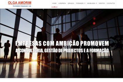 Criação de site para empresa Olga Amorim