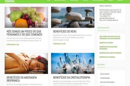 Criação de site para Reiki e terapias