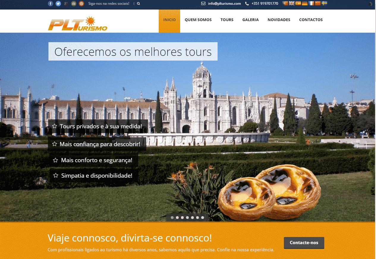 Criação de sites para Turismo