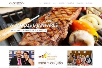 Criação de site Restaurante o Coreto