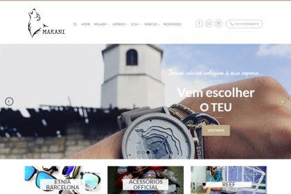 Construção de site para Makani Loja de Roupa Lisboa