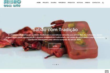 Criação de site para projecto Sabão com arte