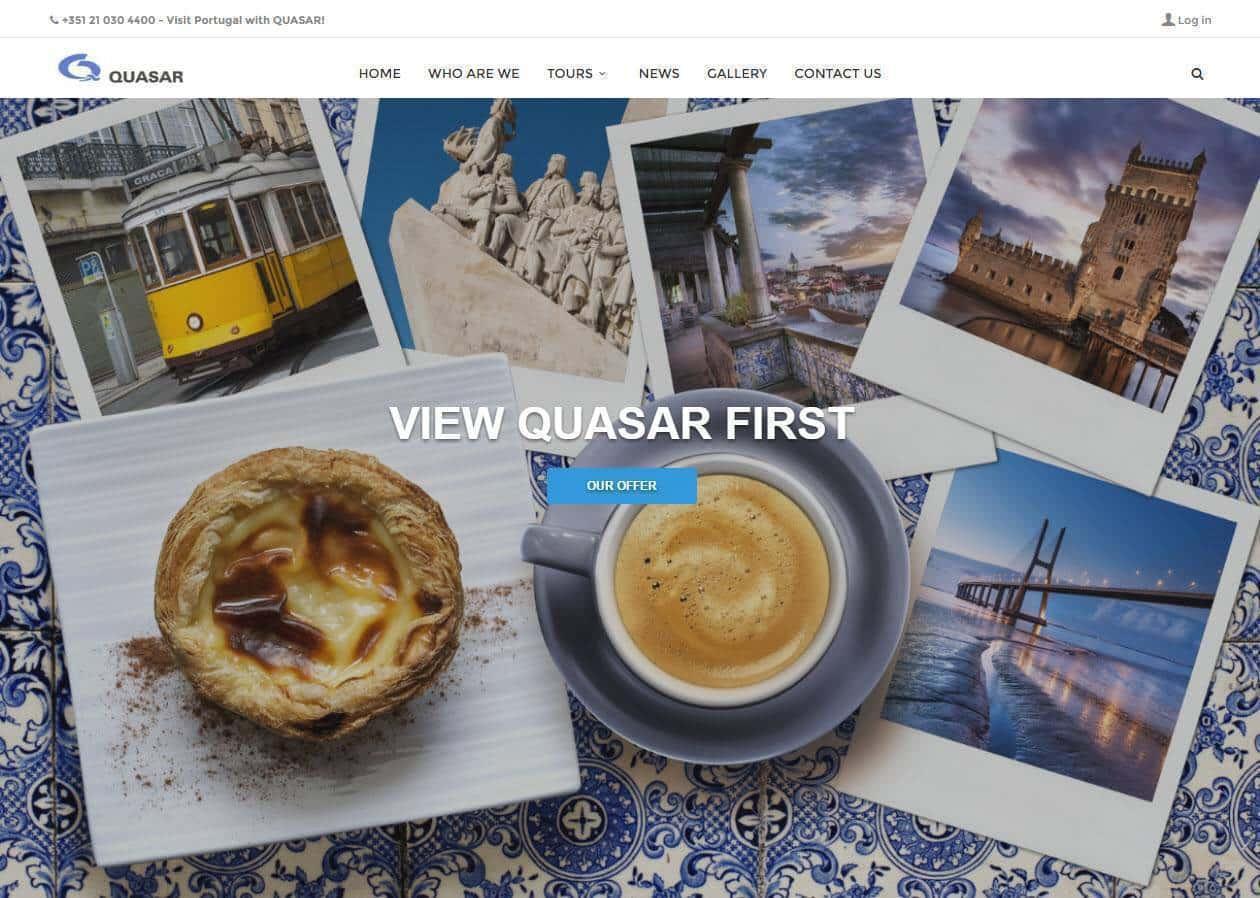 Criação de site para agência de viagens Quasar