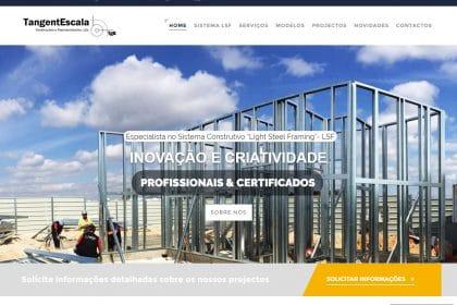 Criação de site para Empresa TangentEscala