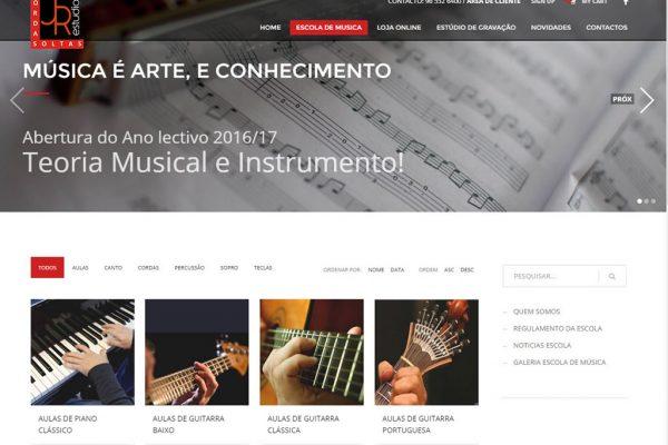 Criação de site para Escola de Musica Cordas Soltas