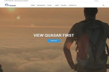 Criação de site para agência de viagens Quasar DMC