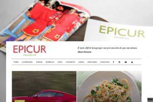 Criação e desenvolvimento de Site Revista EPICUR