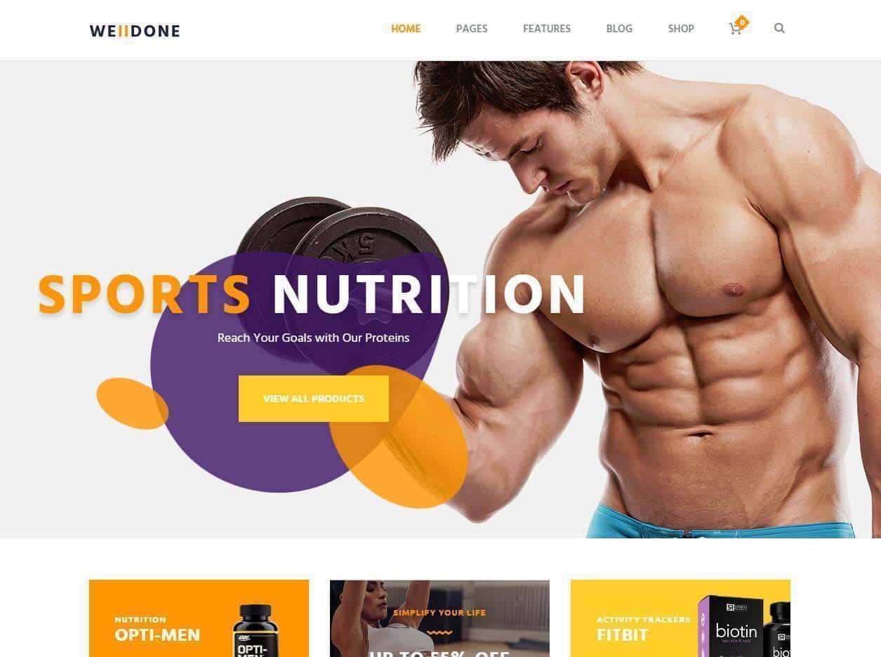 Criação de sites para venda de suplementos desportivos