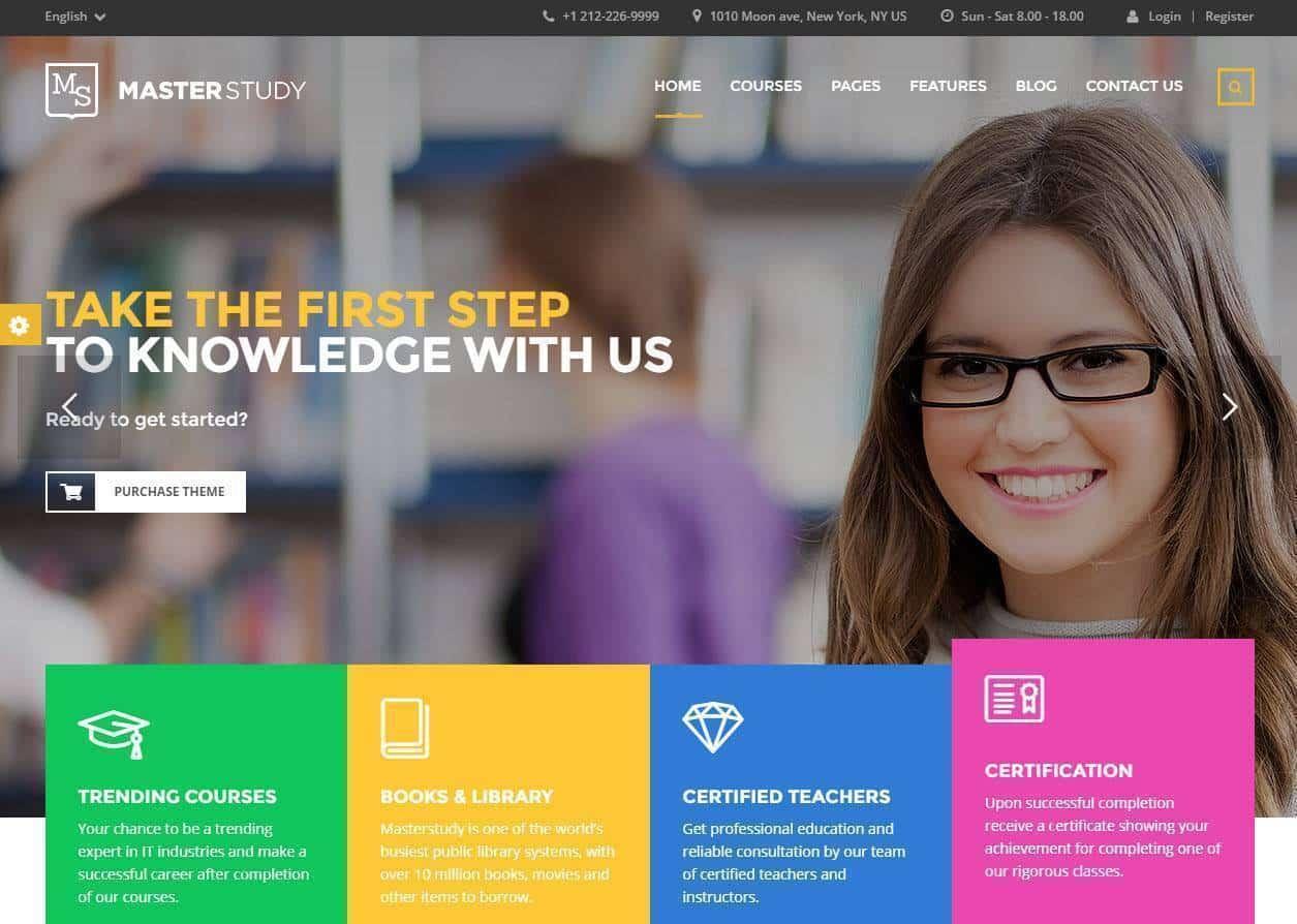 Criação e construção de sites área educação