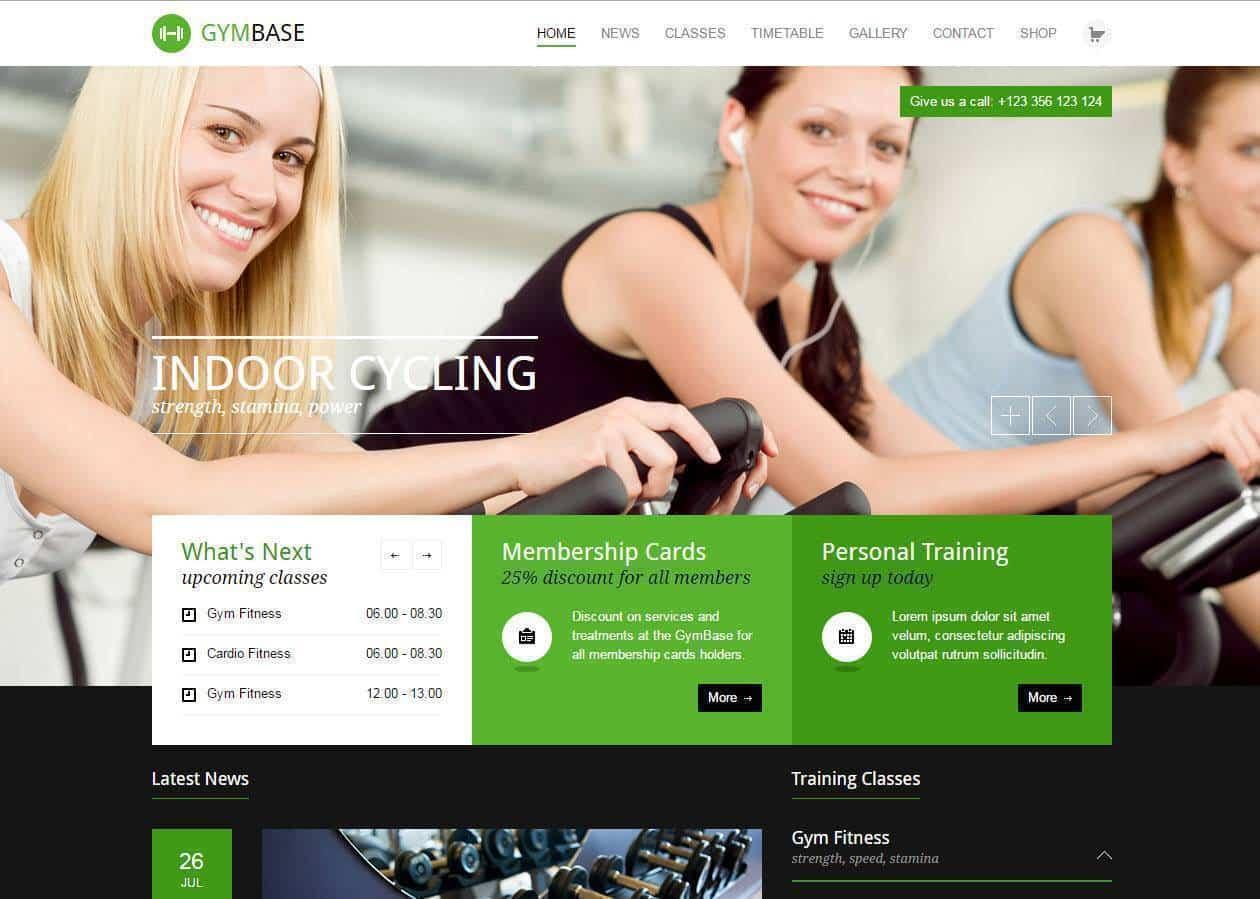 criação e contrução de sites para ginásios