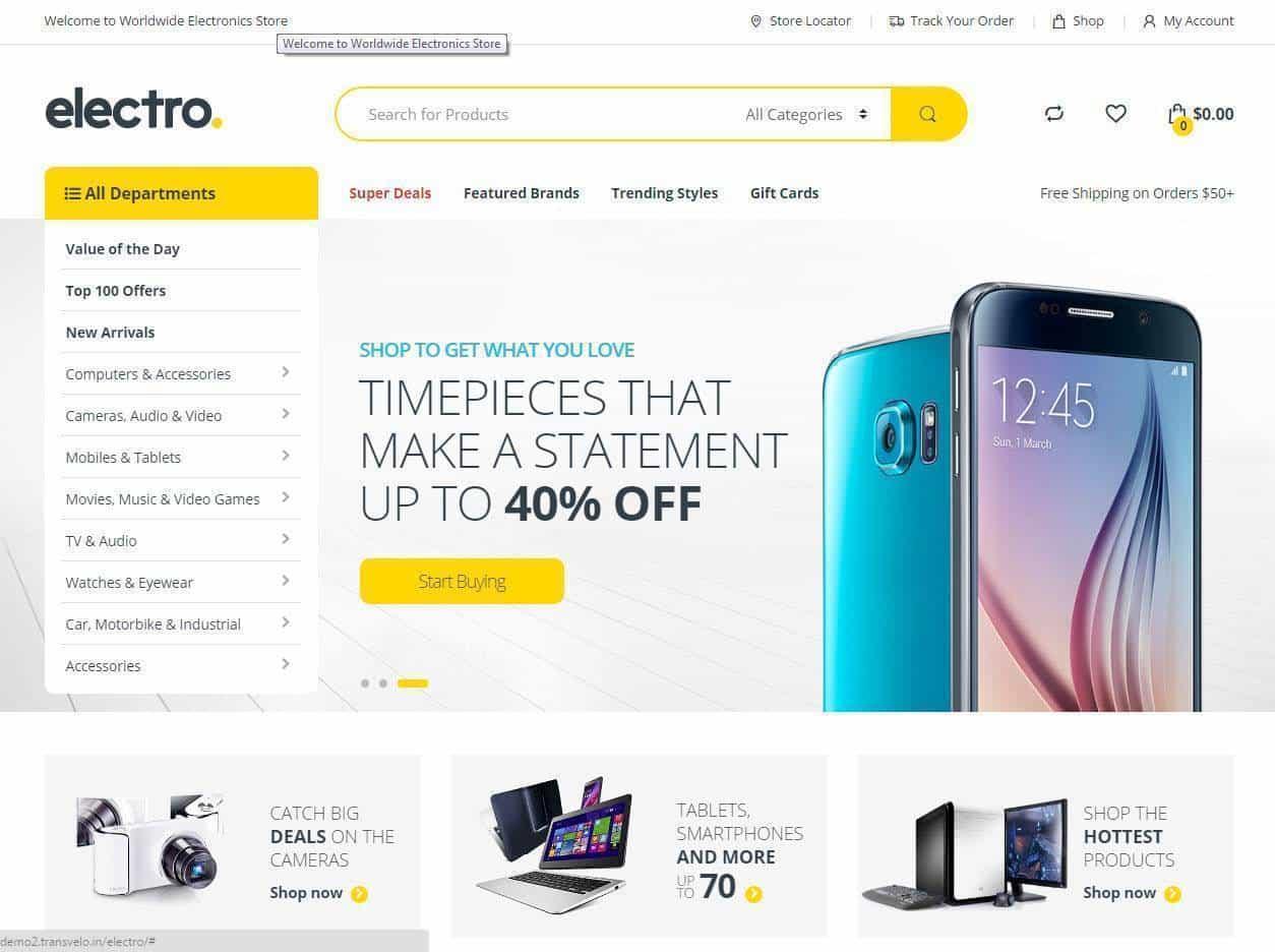 Criacao de lojas online gadgets