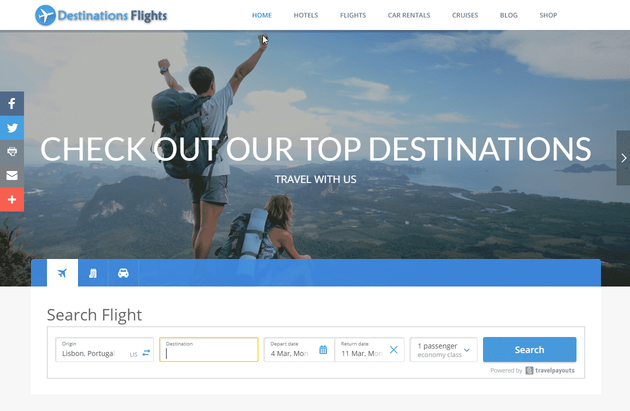 destinations flights